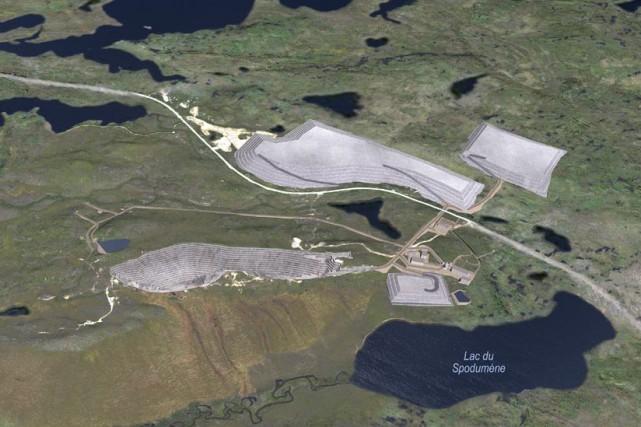 Le projet de la mine de spodumène Whabouchi,... (Photo fournie par Nemaska Lithium)