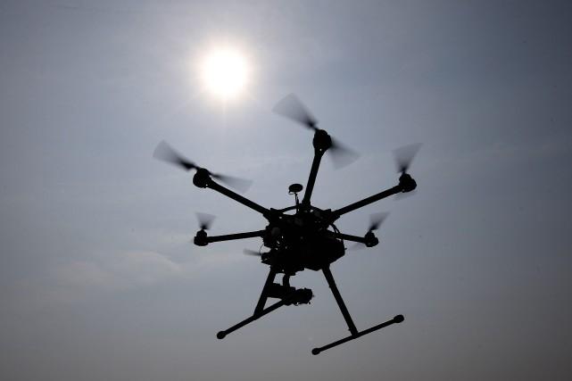 La présence d'un drone au-dessus d'un incendie près... (PHOTO ARCHIVES AP)