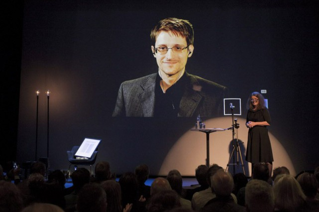 Edward Snowden a critiqué tous les gouvernements qui... (Photo Svein Ove Ekornesvaag/NTB Scanpix, Reuters)