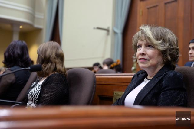 Chantal L'Espérance, présidente du comité de retraite à... (Archives, La Tribune)