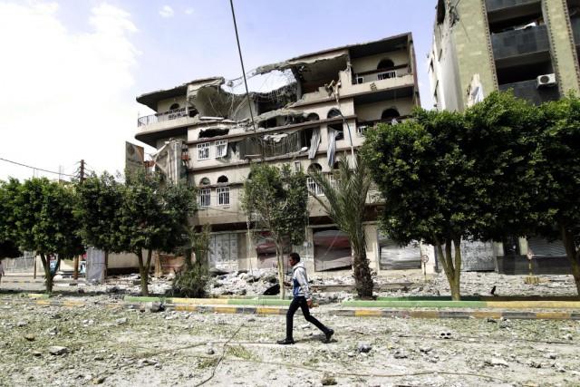La coalition arabe est intervenue au Yémen pour... (PHOTO MOHAMMED HUWAIS, AFP)