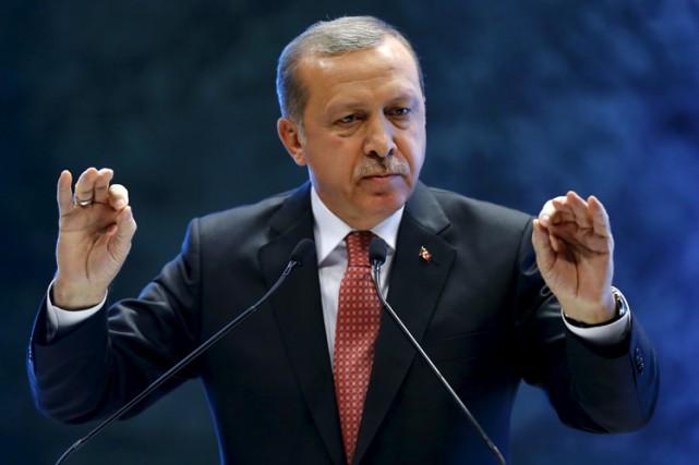 Le président turc Recep Tayyip Erdogan.... (PHOTO REUTERS)