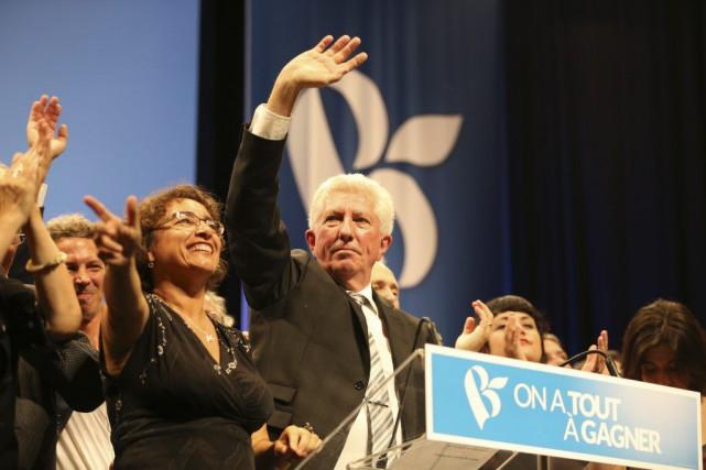 Gilles Duceppe au conseil général du parti, dimanche,...