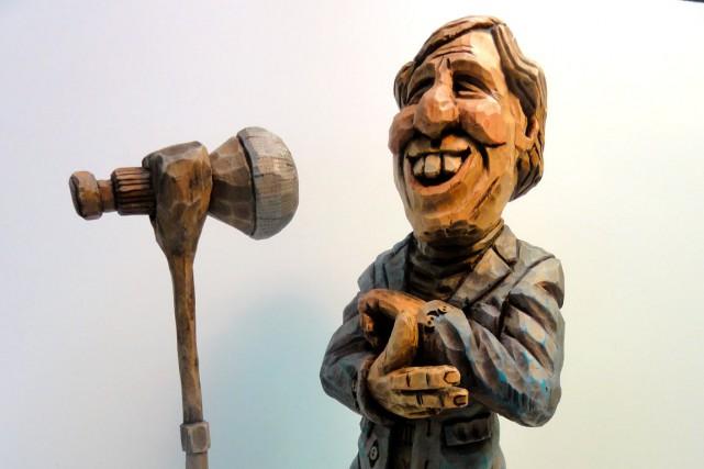 Gilles Matte s'est classé deuxième avec cette sculpture... (Photo fournie par Gilles Matte)