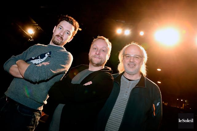 Olivier Normand, FrédéricDubois et Pierre Philippe Guay... (Le Soleil, Erick Labbé)