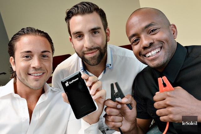 Les trois fondateurs de la compagnie OutPower, Sasha... (Le Soleil, Patrice Laroche)