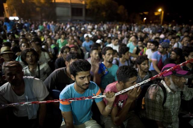 Selon le ministre grec à la Politique migratoire,... (PHOTO AP)