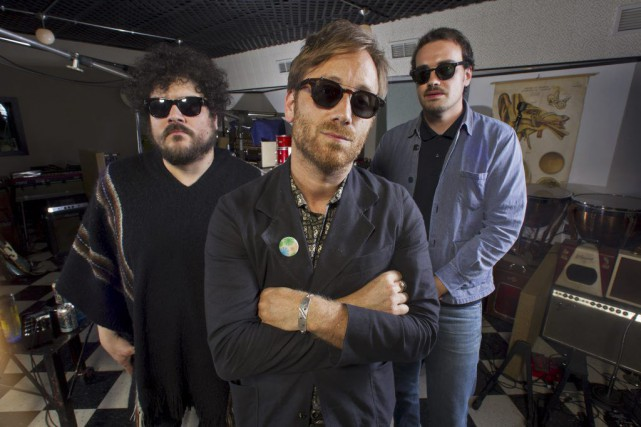 Richard Swift, Dan Auerbach et Leon Michels du... (PHOTO ARCHIVES AP)
