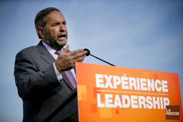 Thomas Mulcair... (PHOTO DAVID BOILY, LA PRESSE)