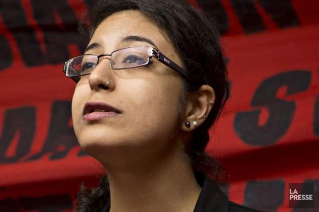 Hind Fazazi, porte-parole de l'ASSÉ.... (Photothèque La Presse)