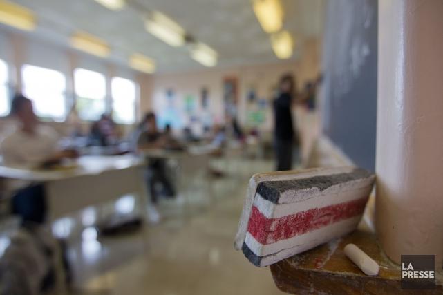 Les enseignants des commissions scolaires des Draveurs, des... (Ivanoh Demers, Archives La Presse)