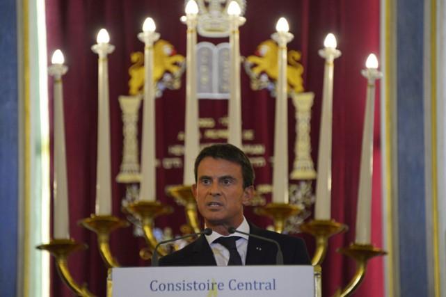 Manuel Valls a livré un discours à la... (PHOTO AFP)