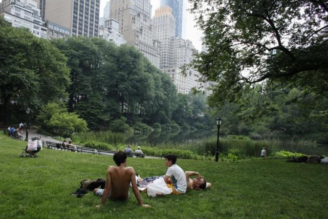 New York a connu un été particulièrement chaud,... (PHOTO AFP)