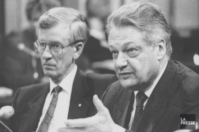 Jean Campeau et Michel Bélanger, coprésidents de la... (PHOTO ARCHIVES LA PRESSE)