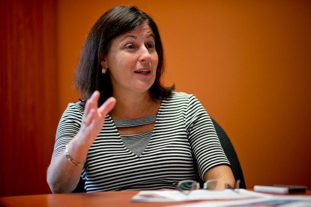 Diane Lamarche-Venne, présidente de la Commission scolaire Marguerite-Bourgeoys,compte... (Photo David Boily, La Presse)