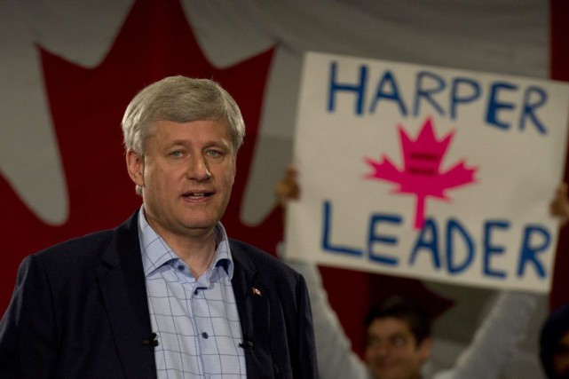 Stephen Harper... (PHOTO ADRIAN WYLD, LA PRESSE CANADIENNE)