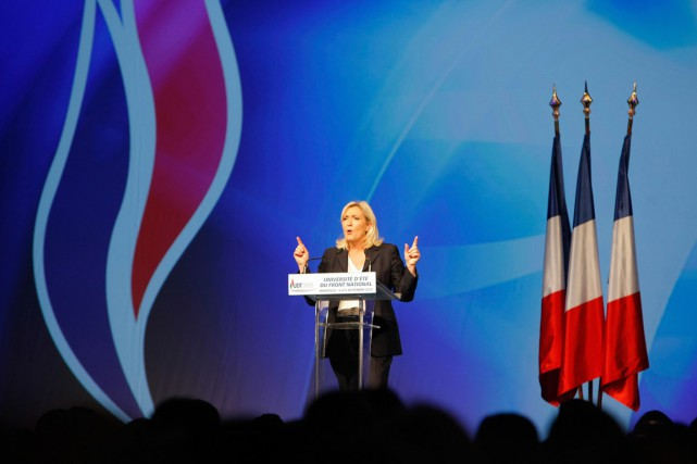 Le parti de Marine Le Pen a été... (PHOTO CLAUDE PARIS)