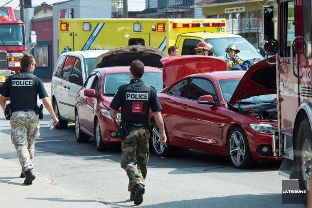 Un accident s'est produit sur l'heure du midi, mercredi, dans le secteur... (Imacom, Jessica Garneau)