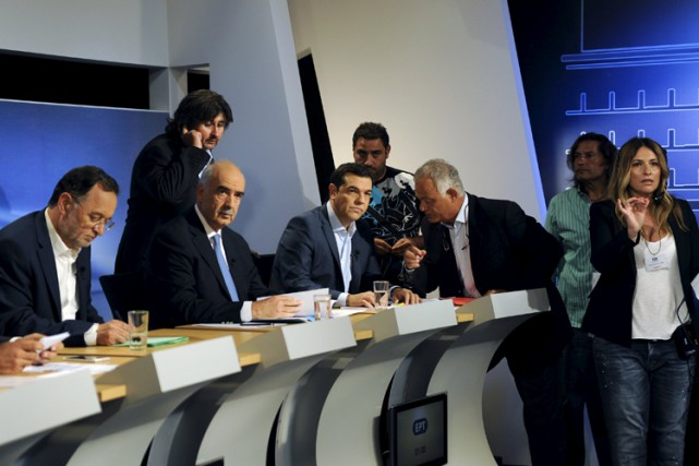 Le débat télévisé, le premier a être organisé... (PHOTO REUTERS)