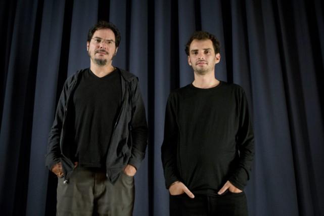 Jonás Cuarón (à droite) et son oncle Carlos... (PHOTO AP)