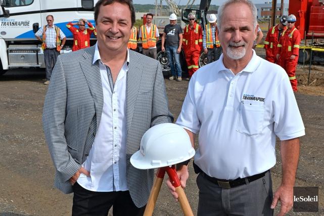 Stéphan Huot, président du Groupe Huot, et Guy... (Photo Le Soleil, Pascal Ratthé)