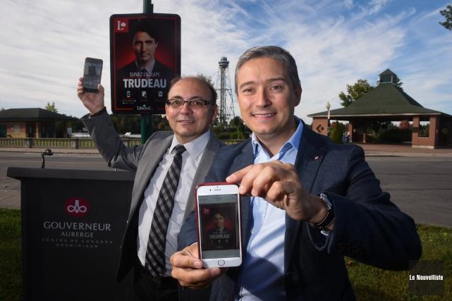 Les candidats libéraux dans Trois-Rivières et Saint-Maurice-Champlain, Yvon... (Photo: François Gervais, Le Nouvelliste)