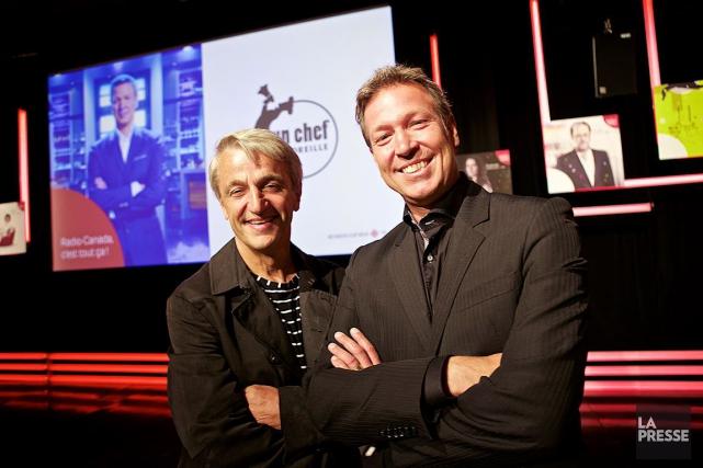Le chef Jean Soulard (à gauche) agit comme... (La Presse, André Pichette)