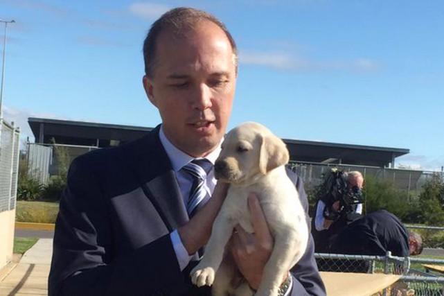 Le ministre australien de l'Immigration, Peter Dutton.... (PHOTO TIRÉE DE TWITTER)
