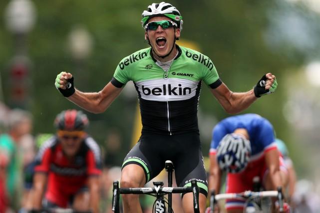 Robert Gesink lors de sa victoire auGrand Prix... (PHOTO MARTIN CHAMBERLAND, ARCHIVES LA PRESSE)