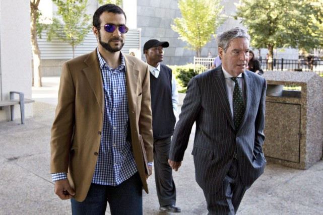 Omar Khadret son avocat Dennis Edney.... (PHOTO JASON FRANSON, LA PRESSE CANADIENNE)