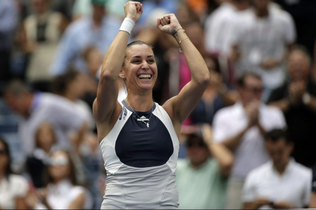 Flavia Pennetta... (PHOTO BILL KOSTROUN, ASSOCIATED PRESS)
