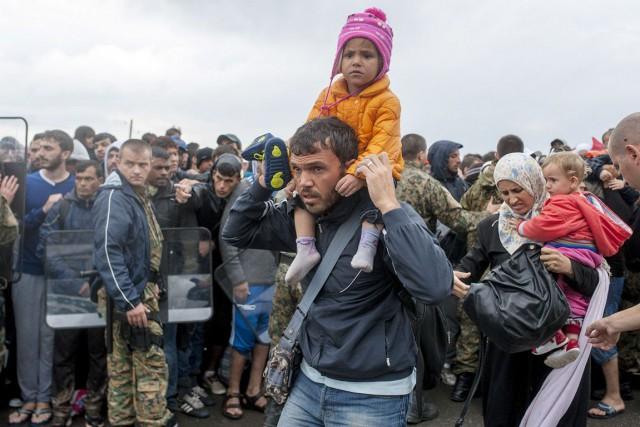 Des réfugiés syriens... (Archives AFP)