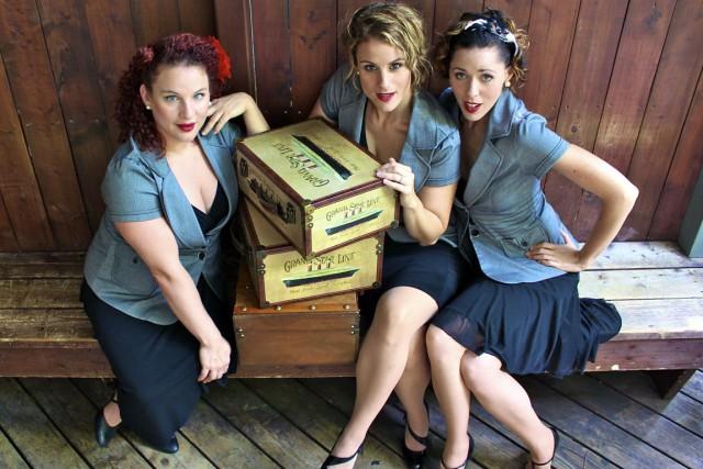 Les membres du trio Les Chiclettes, Geneviève Cholette,Nathalie... (Photo: fournie par Les Chiclettes)