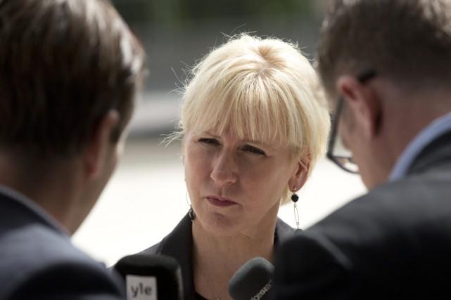 La ministre suédoise des Affaires étrangères Margot Wallström.... (PHOTO VIRGINIA MAYO, AP)
