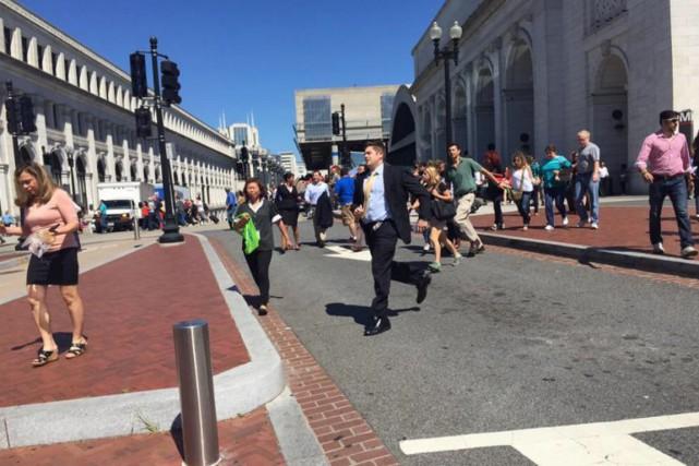 La gare Centrale de Washington a été évacuée... (PHOTO TIRÉE DE TWITTER)