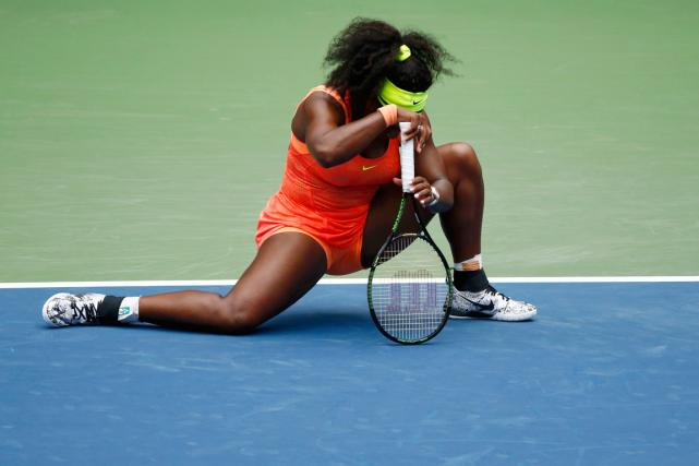 Serena Williams avaitun premier Grand Chelem en plus... (PHOTO REUTERS)