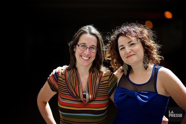 Marie-Eve Maillé et Marilyse Hamelin créatrices de la... (Photo André Pichette, La Presse)