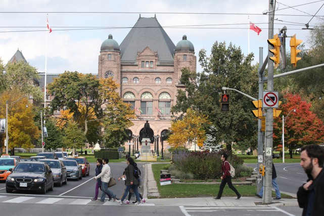 L'Université de Toronto, sur l'avenue University... (Photo archives Toronto Star)