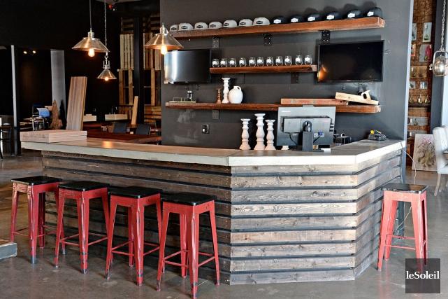 Voici le bar qui accueillera les visiteurs de... (Le Soleil, Patrice Laroche)