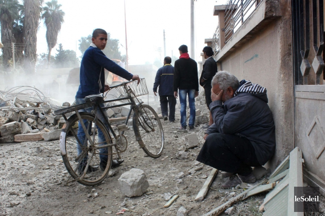 Des frappes gouvernementales contre l'État islamique en novembre... (Photothèque Le Soleil)