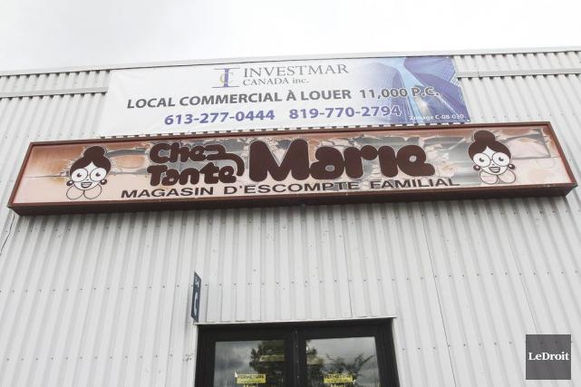 Le magasin Chez Tante Marie du secteur Hull... (Etienne Ranger, LeDroit)