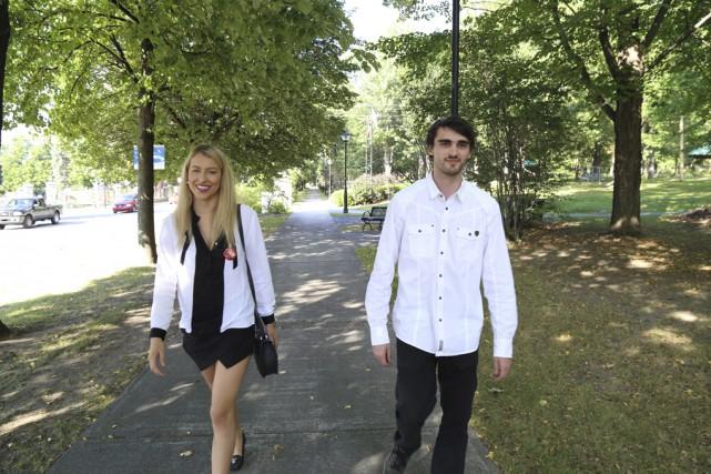 Florence-Olivia Genesse et Maxime Grondin... (photo Janick Marois)