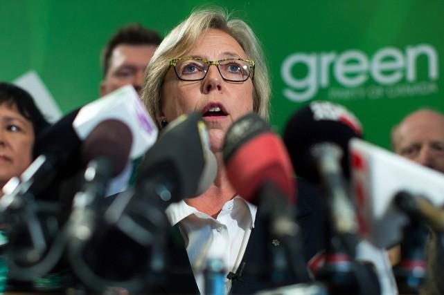 La chef du Parti vert, Elizabeth May.... (PHOTO DARRYL DYCK, ARCHIVES PC)