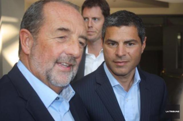 Le ministre Denis Lebel s'est porté hier à... (La Tribune, Yanick Poisson)