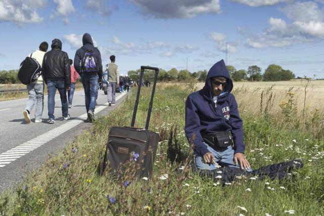 La mort du petit Alan Kurdi a tant ému le monde entier que les journalistes... (Jens Nørgaard Larsen, Agence France-Presse)