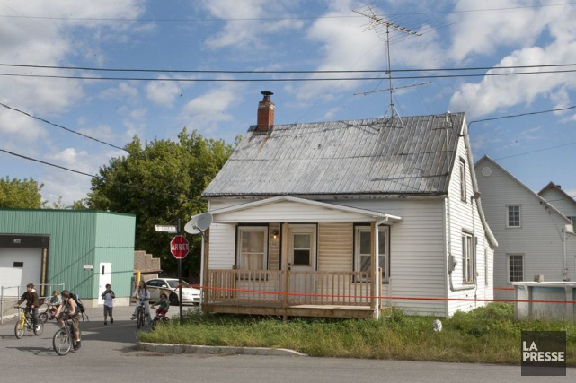 La maison des frères Jean-Guy et Richard Roy... (Photo: Robert Skinner, La Presse)