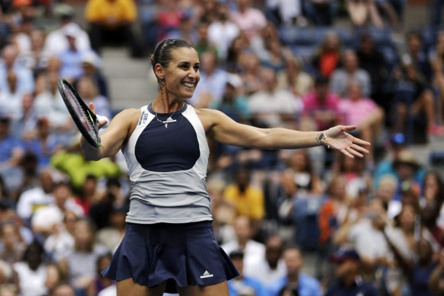 Flavia Pennetta, 26e joueuse mondiale, a battu sa compatriote... (David Goldman, Associated Press)