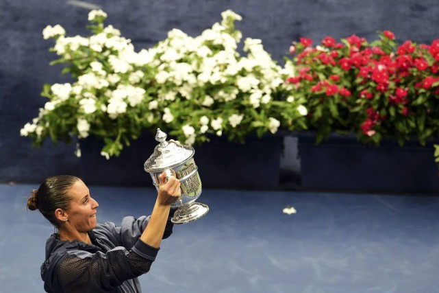 Flavia Pennetta... (PHOTO JEWEL SAMAD, AFP)