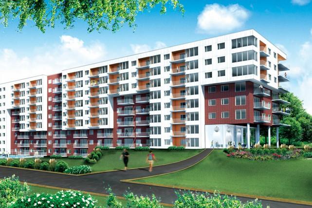 Le Promontoire sera construit sur le site de... (Image fournie par Le Groupe Beaudet et Saucier)