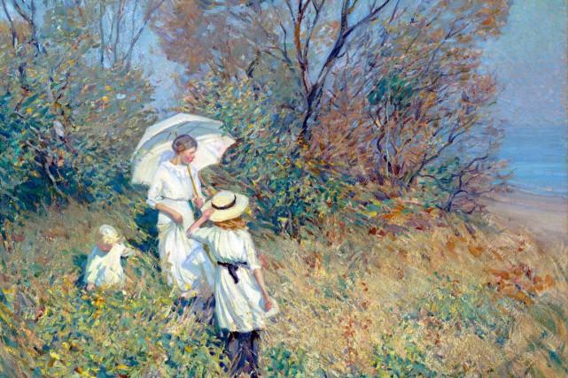 Helen McNicoll, Septembre ensoleillé, 1913. Huile sur toile,... (Photo MNBAQ, Idra Labrie)